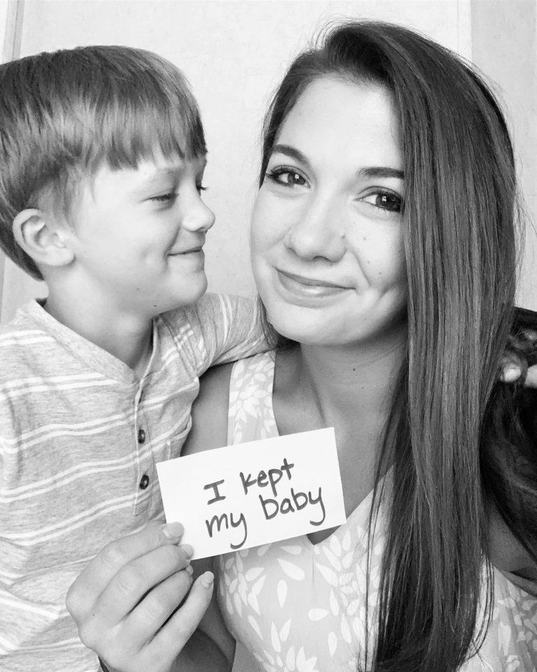 I kept my baby…